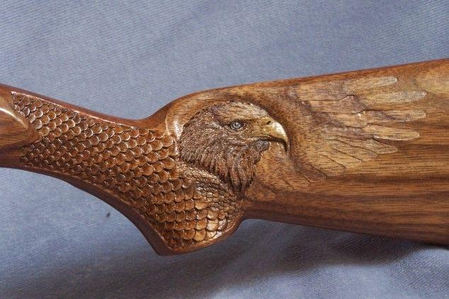 Custom gunstock carving by dreams in wood