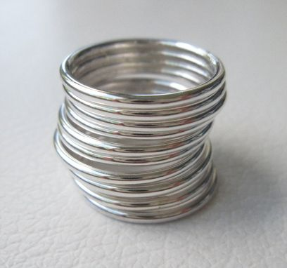 Custom Made Silver Stacking Rings