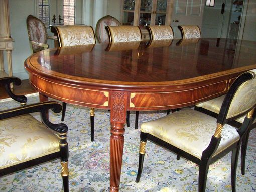 Custom Made Regency Mahogany Dining Room Table