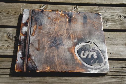 Custom Made Custom Request Silver Distressed Wooden Walnut Portfolio/Album/Heirloom/Wedding & Custom Engraving