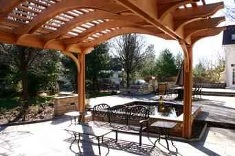 Custom Made Patio Pergola With Arched Top