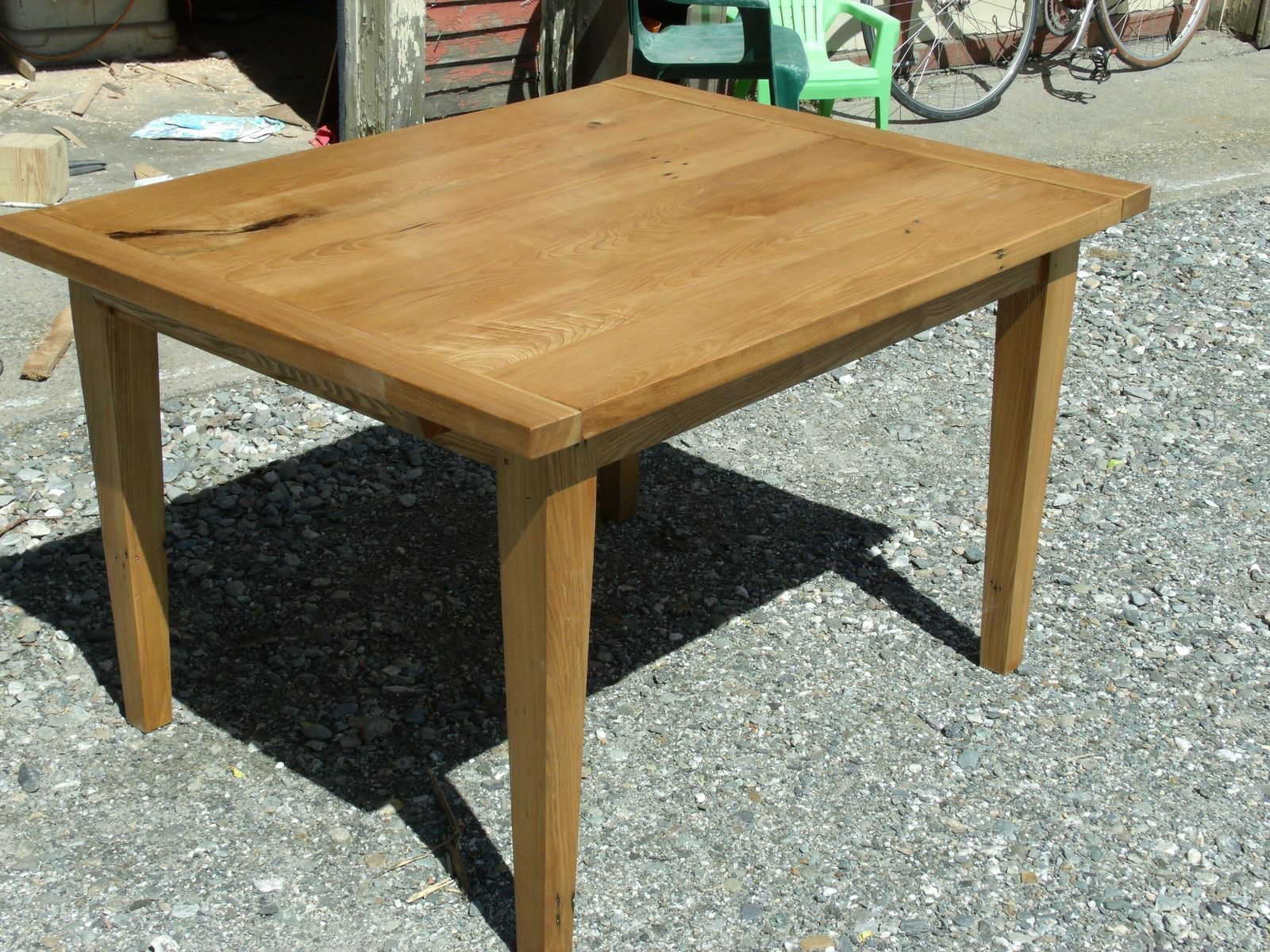 Handmade White Ash Farm Table By Spaulding S Furniture