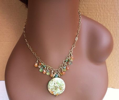 Custom Made Green Turquoise & Quartz Necklace