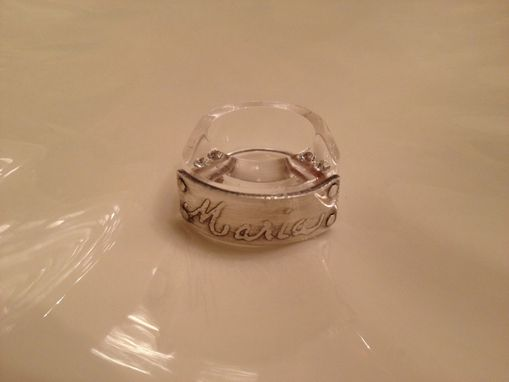 Custom Made Personalized Lucite Ring