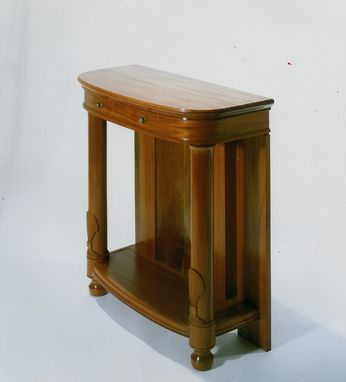Custom Made Demi-Lune Side Table