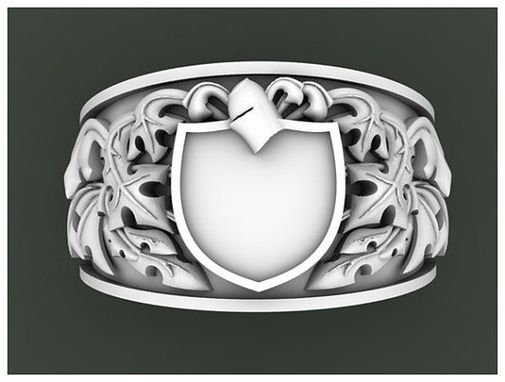 Custom Made Customized Heraldic Or Coat Of Arms Rings