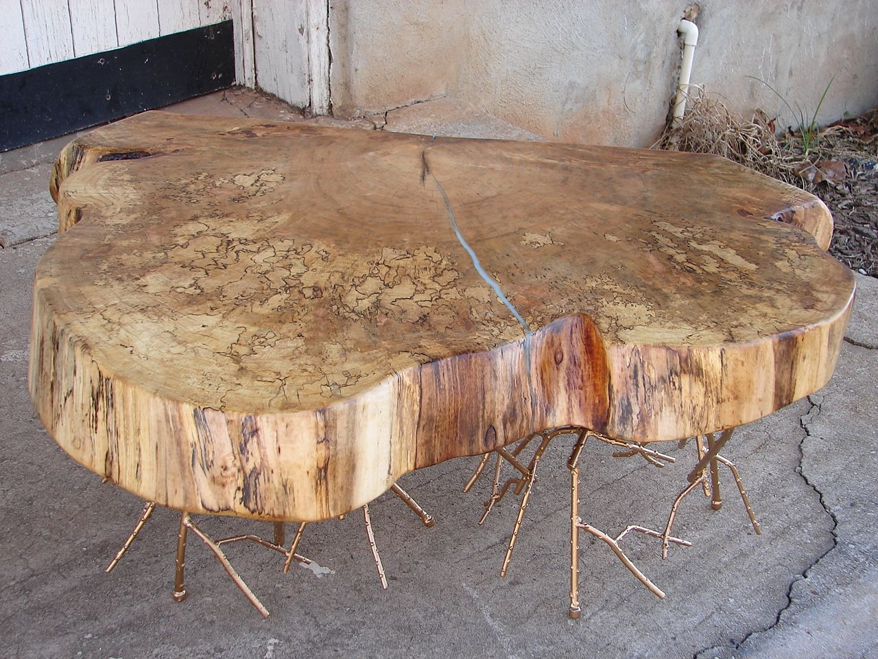 A Hand Crafted Rustic Glam Modern Spalted Maple Live