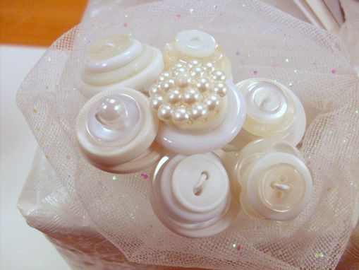 Custom Made Button Package Topper