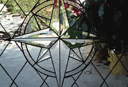 Custom Made Compass Rose Stained Glass Window