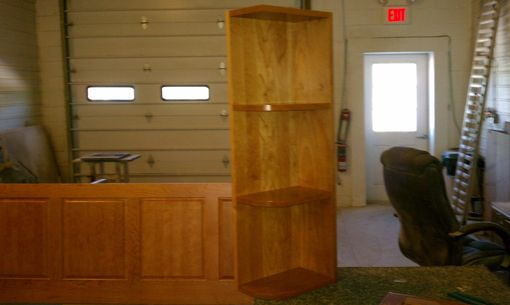 Custom Made Kitchen Island Back Panel & Corner Shelf
