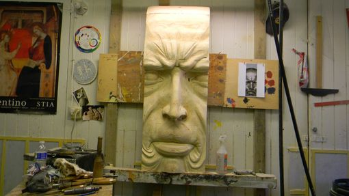 Custom Made Angry Man In Wood