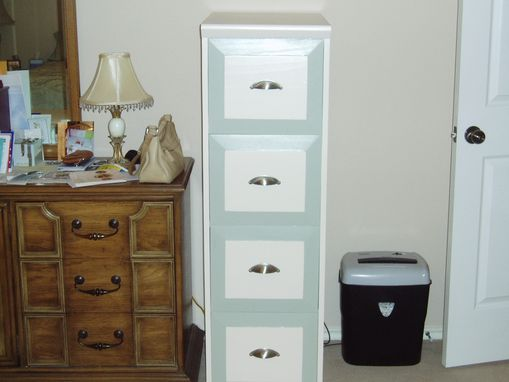 Custom Made 4 Drawer File Cabinet