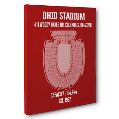 Custom Made Ohio Stadium Canvas Wall Art – Multiple Colors