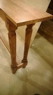 Custom Made Long Quartersawn Oak Sofa Table