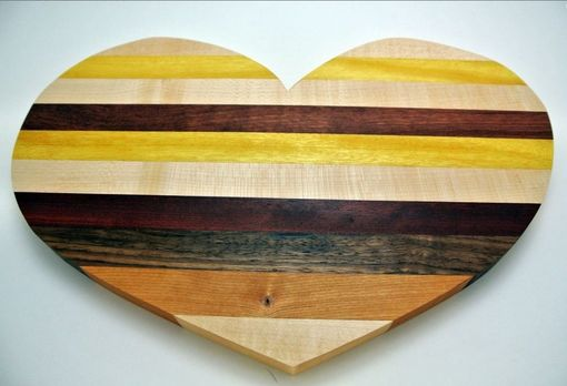 Custom Made Heart Shaped Cutting Boards