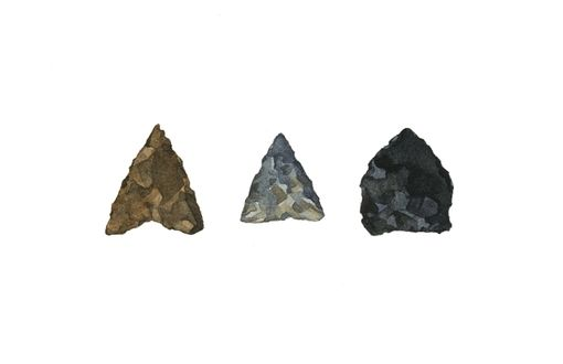 Custom Made Arrowheads Watercolor