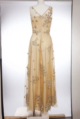 Custom Made Gold Embroidered Gown