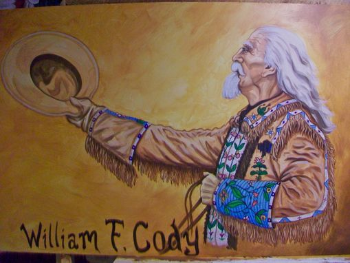 Custom Made Acrylic On Board Portrait For A Mural: Cowboys 1