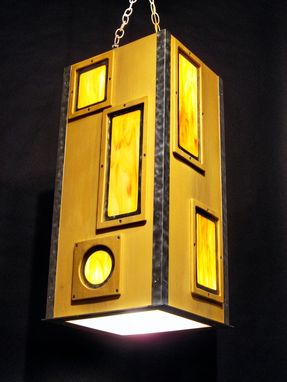 Custom Made Custom Industrial Contemporary Eclectic Light Sculpture Art