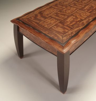 Custom Made Coffee Table Of Bubinga And Wenge
