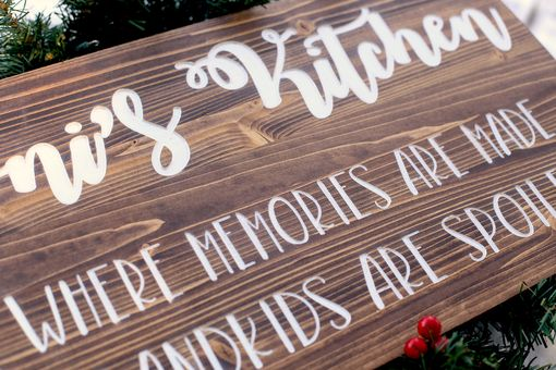 Custom Made Custom Rustic Kitchen Sign | 12x24 Wood Sign | Grandma's Kitchen