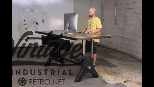Custom Made Hure Sit Stand Desk