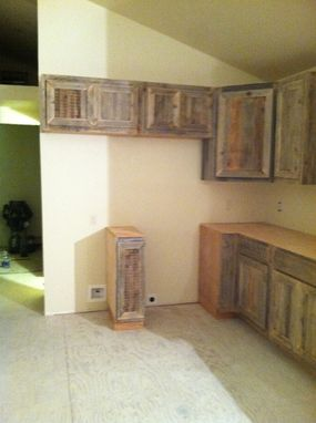 Custom Made Reclaim Cabinets For A Rustic Cabin