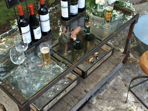 Custom Made Coffee Table/Drink Cart (2 In 1)