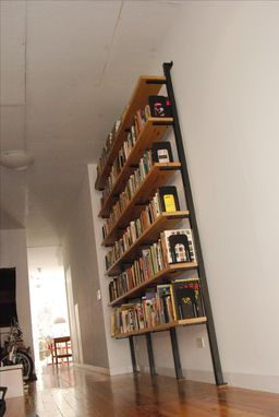 Custom Made Custom Steel And Wood Shelving And Standards