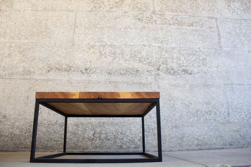 Custom Made Modern Ash & Steel Coffee Table