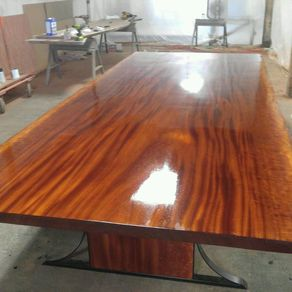 hand made bookmatched live edge sycamore dining table by. Black Bedroom Furniture Sets. Home Design Ideas