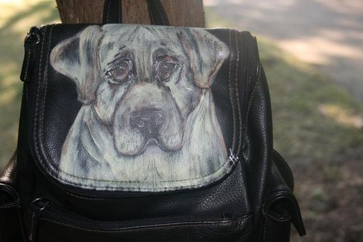 Custom Made Yellow Lab Puppy Backpack Purse- Custom Painted Pets