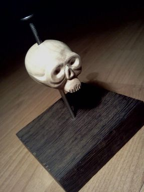 Custom Made Nailed Skull