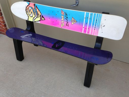 Custom Made Snowboard Bench