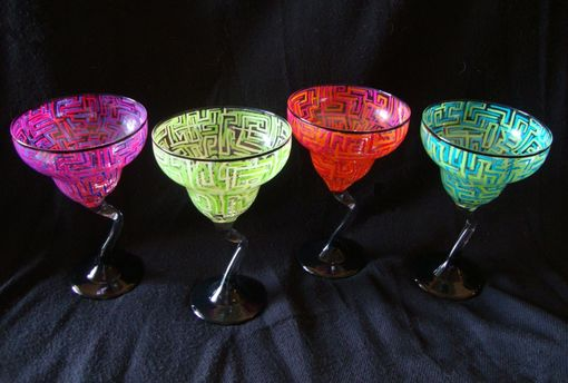 Custom Made Hand Painted Martini Glasses