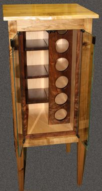 Custom Made Butternut Wine Cabinet