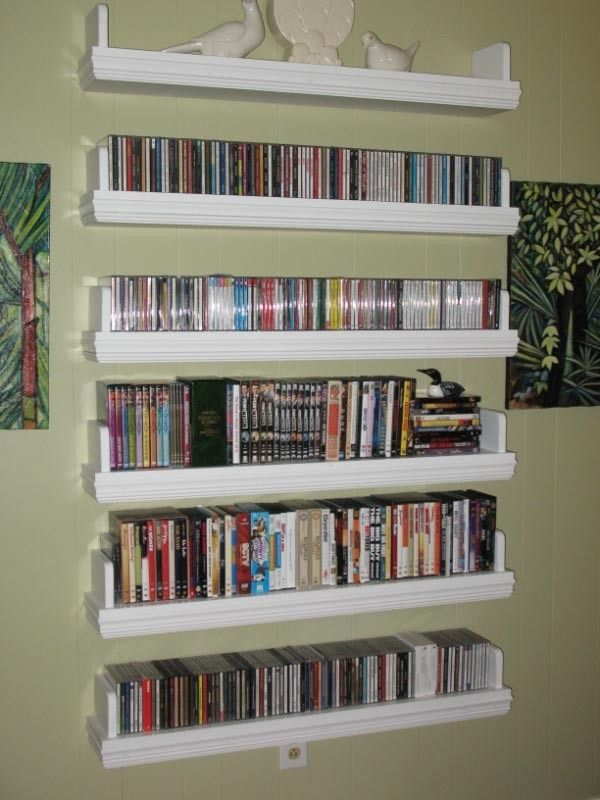 Custom Floating Media Shelves By North Texas Wood Works
