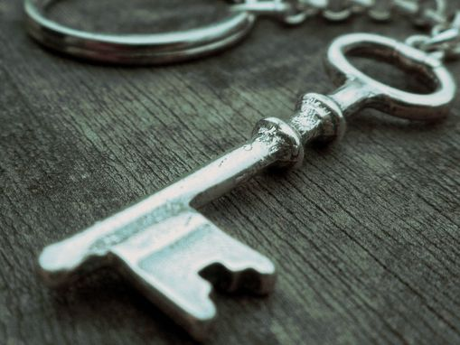 Custom Made Key Ring In Sterling Silver