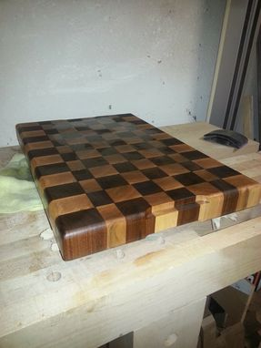 Custom Made End-Grain Maple And Walnut Cutting Board