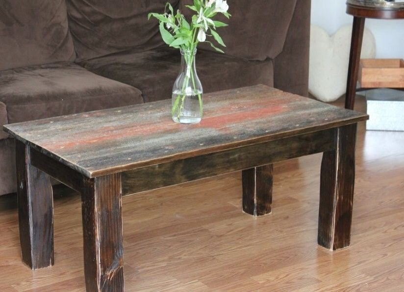 Hand crafted barnwood coffee table by ross alan reclaimed Furniture made from barn wood
