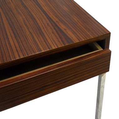 Custom Made Initially Side Table, Perfect For Modern Sofas With Extra Long Armrests