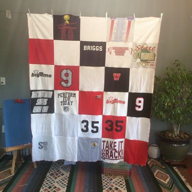 Custom Made 5'X6', 30 T-Shirts, Custom T-Shirt Blanket