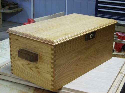 Custom Made Custom Oak Chest