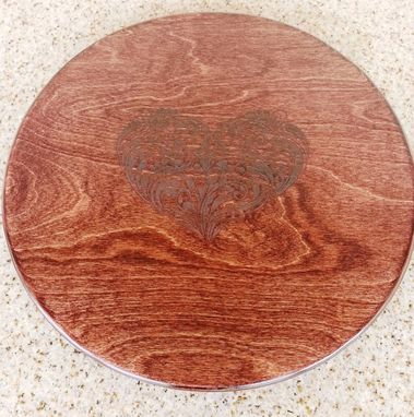 Custom Made Mother's Day Gift: Fancy Heart Lazy Susan