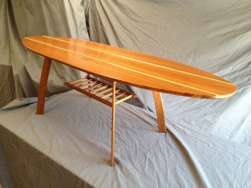 Custom Made Teak/Maple Surfboard Table
