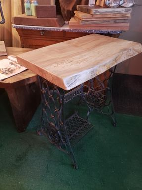 Custom Made Maple Singer Sewing Machine Base Table Live Edge