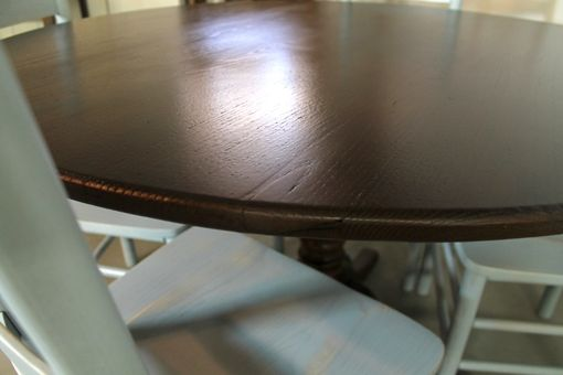 Custom Made 48 Round Farm Table With Cottage Pedestal