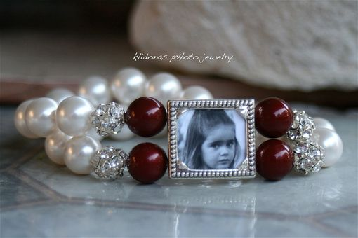 Custom Made Photo Bracelet For Fall And Winter Weddings Bridal Party Gift