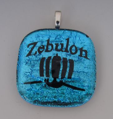 Custom Made Laser Etched Dichroic Fused Glass Pendant Custom Design