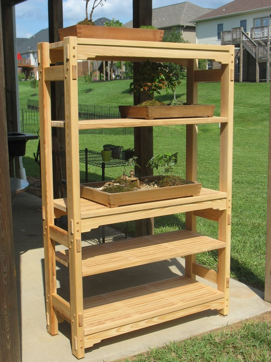 Handmade Garden Shelving Unit By Wonder Woodworking
